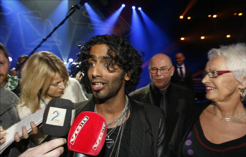 OVERRASKET: Chand Thorsvik trodde Shackles skulle vinne finalen og ble helt satt ut da han ble nummer 1. Foto: Scanpix