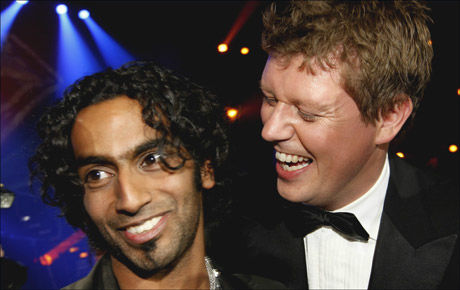 STOLT: Jan Fredrik Karlsen var i lykkerus over Chands triumf.. Foto: Scanpix