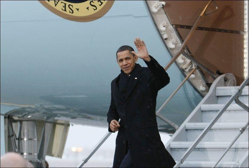 KRISEMØTE: USAs president Barack Obama gikk rett i møte med en håndfull toppledere da han ankom København i morges. Foto: Reuters