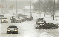 USA dynket i snø