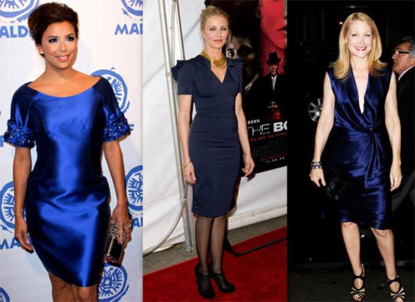 strømper til marineblå kjole