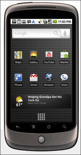NY SMARTING: Nexus One fra Google og HTC. Foto: Google
