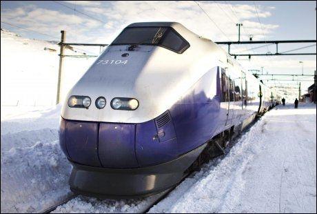 KALDT: Kulden fører til problemer for togtrafikken, også torsdag morgen. Foto: Marte Vike Arnesen