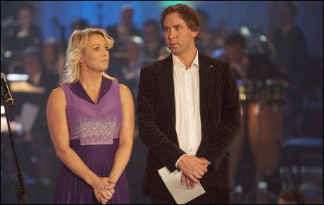 FLEIPET MED NORDLIE: Tom Nordlie reagerte sterkt på hva Kari Traa og Steinar Hoen sa da de delte ut pris til årets trener. Foto: Scanpix