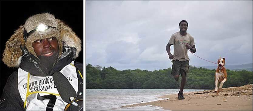 ALT ER MULIG: Newton Marshall er et eksempel på at det meste er mulig bare man har en god idé og et sterkt indre ønske. Foto: Jamaica Dogsled Team
