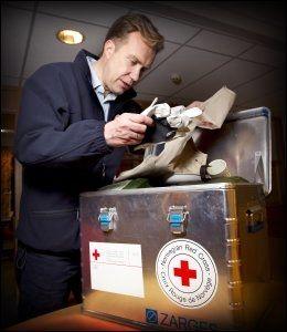 FIKK IKKE LANDE: Børge Brende og Røde Kors' fly fikk ikke landingstillatelse i Port-au-Prince. Foto: Mattis Sandblad