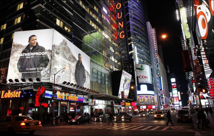 """TIMES SQUARE: Ingen New York-besøkende klarer å unngå Times Square, verdensbyens ultimate møtepunkt. Men VG-leserne har flere """"ting å se""""-tips å kommme med. Foto: Reuters"""