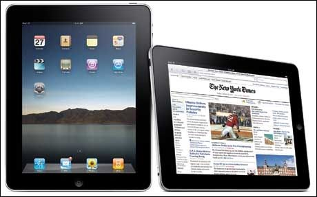 Blir iPad den foretrukne måten å lese VG på? Apple demonstrerte New York Times på iPad under lanseringen. (Foto: Apple)