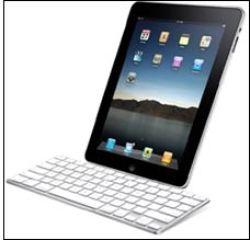 Du får kjøpt iPad med et fysisk tastatur som ekstrautstyr. Foto: Apple