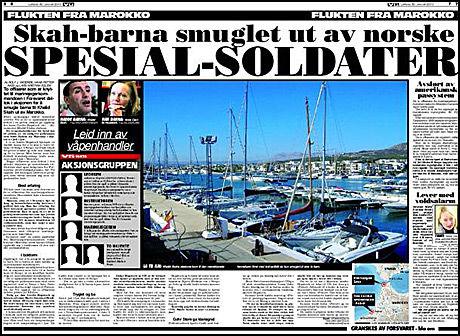 AVSLØRER: VG avslørte lørdag at norske spesialsoldater var med på å smugle Skah-barna ut av Marokko. Foto: Faksimile av VG 30. januar