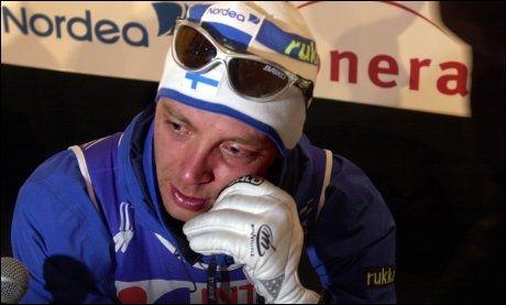 INNAVSLØRT SOM JUKSEMAKER: Mika Myllylä under VM på hjemmebane i 2001. Foto: VG