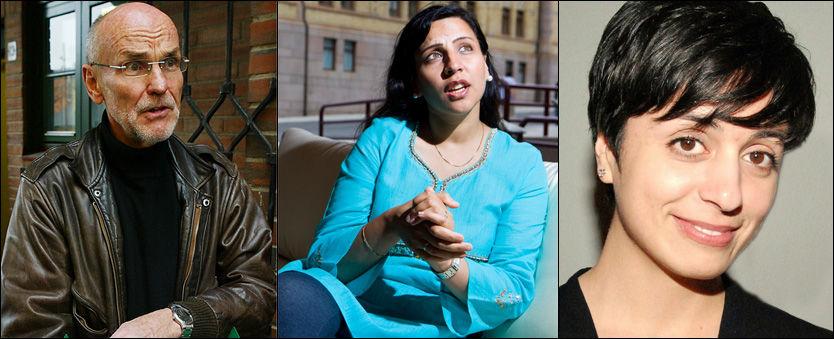 NORSKE MUSLIMER: Trond Ali Linstad (f.v.), Høyre-politiker Afshan Rafiq og Hadia Tajik (Ap). Foto: SCANPIX/VG/PRIVAT