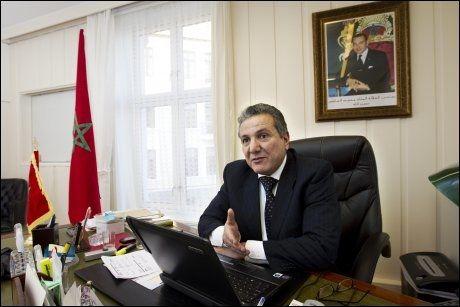 REAGERER: Ambassadør Yahdih Bouchaab reagerer på at Forsvaret ikke straffer de to offiserene som deltok i smuglingen av Skah-barna. Foto: Frode Hansen/ VG
