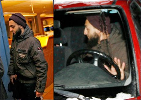 PÅ POLITIHUSET: Mohyeldeen Mohammad forsvant fra pressen etter avhøret på politihuset. Foto: Scanpix