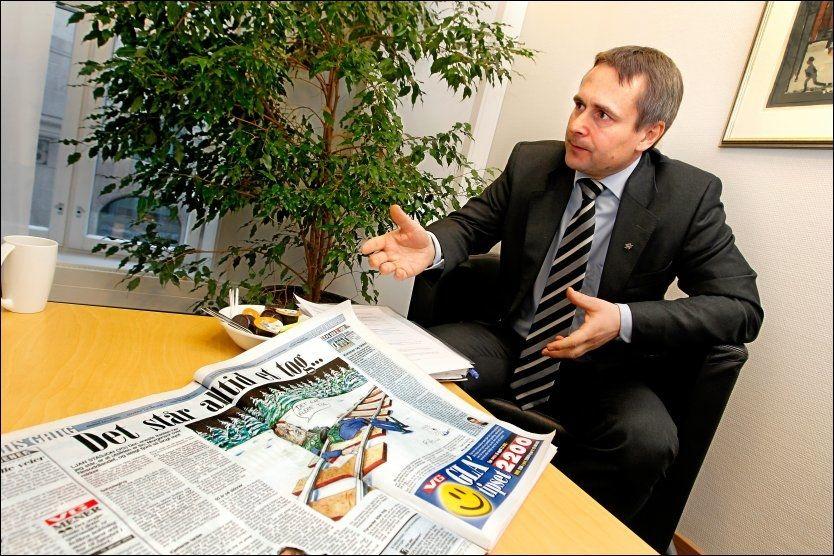 SA OPP: Stein Nilsen (Bildet) sa opp sin stilling som toppsjef i NSB i januar. Nå tar Tom ingulstad midlertidig over. Foto: Jan Petter Lynau/VG