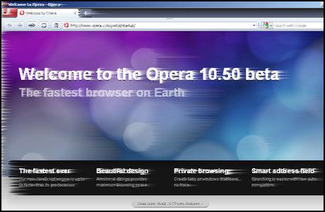 NYE OPERA: Betaversjonen av Opera 10.5 er lynrask, viser tester.