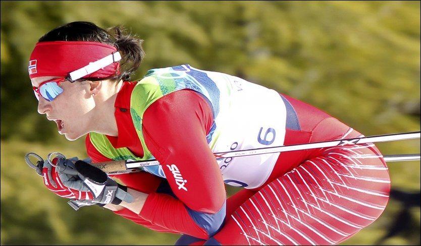 SPARER SEG: Marit Bjørgen dropper sprintstafetten for å være helt klart til de gjenstående konkurransene. Foto: EPA