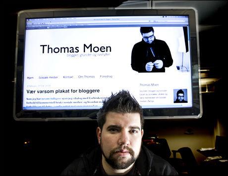 - INGEN REGLER: - Bloggplakaten skal bare være retningslinjer, sier Bloggplakatens ene far, Thomas Moen. Foto: Bjørn Thunæs, VG