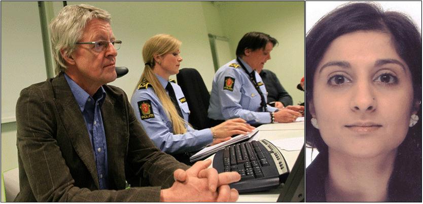 - GRAFSING: Bistandsadvokat Harald Stabell (t.v) sier at Faizas familie opplever at media har grafset i hennes privatliv. Foto: Morten Holm, Scanpix/Politiet
