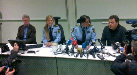 BEKREFTET DRAP: På en pressekonferanse onsdag bekreftet politiet i Asker at savnede faiza Ashraf var funnet drept. Foto: David Andresen