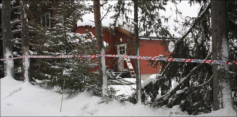 DRAP: Drapet skjedde i dette huset i Aurskog i Akershus. Foto: Rune Melby