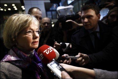 RASER: Dansk Folkepartis leder Pia Kjærsgaard karakteriserer Politiekens beklagelse som pinlig. Foto: Niels Ahlmann Olesen / Scanpix