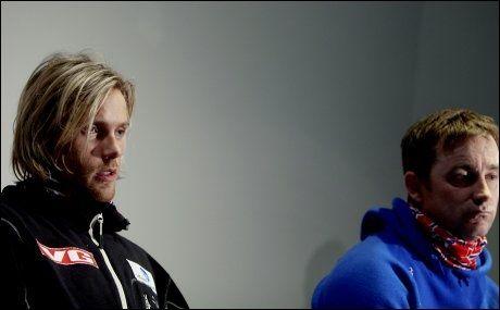SA UNNSKYLD: Bjørn Einar Romøren og sportssjef Clas Brede Bråthen møtte pressen på Ullevaal torsdag. Foto: Scanpix