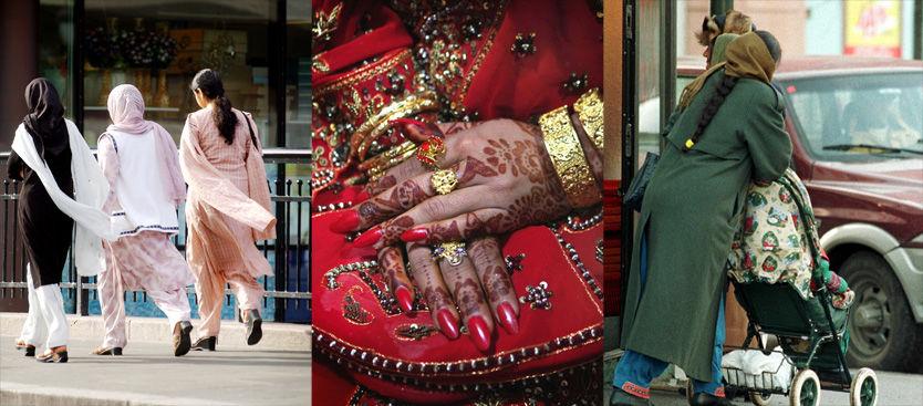 FORSTÅR IKKE: Eldre norskpakistanske kvinner forstår ikke at unge jenter vil ha et sosialt liv. De eldre vil gjerne bevare sin kultur. Foto: Illustrasjonsfoto: AFP,Scanpix