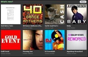 Skjermdumpen viser Spotifys redaksjonelle innhold. Foto: