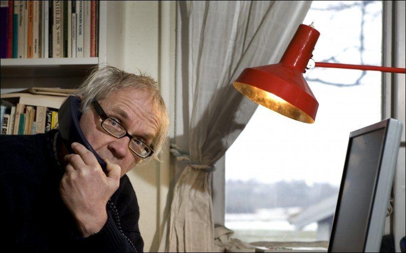 TRUSLER: Den svenske tegneren Lars Vilks har fått flere trusler etter at han i 2007 publiserte tegninger av Muhammed som hund. Nå er flere pågrepet, mistenkt for å planlegge drap på Vilks. Foto: Scanpix