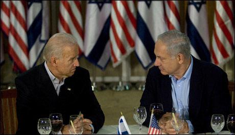 MØTTES: Joe Biden var forrige uke i Israel der han blant annet møtte Benjamin Netanyahu. Nå kommer sistnevnte til USA. Foto: AFP