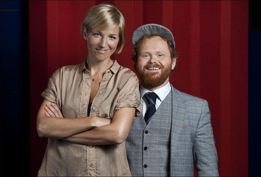 PROGRAMLEDERNE: Guri Solberg og Ivar Christian Johansen er klare som nye programledere i X-Faktor. Foto: TV 2.