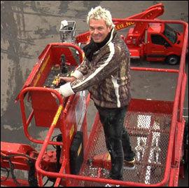 HØYT OPPE: Liftgründeren Lars Ole Johansen er hovedpersonen i VGTVs nye serie «Rikingen». Foto: Merete Gamst