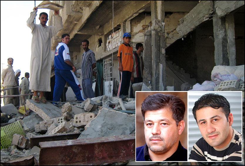 DREPT: Den irakiske fotografen Namir Noor-Eldeen (22) og sjåføren Saeed Chmagh (40) ble drept i Bagdad 12. juli 2007. Foto: AP, Reuters