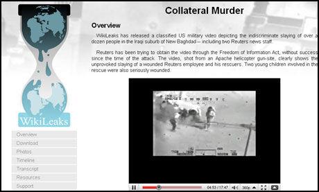 UPROVOSERT DRAP: Videoen lekket av Wikileaks på Collateralmurder.com viser irakere som blir drept uprovosert. Foto: Faksimile: Collateral Murder