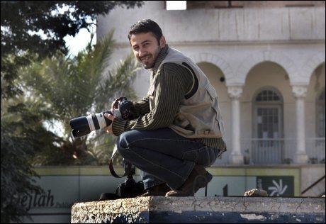 DREPT: Namir Noor-Eldeen (22) skal ha vært en svært dyktig fotograf. Foto: Reuters