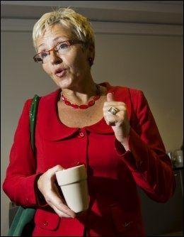 KLAR TALE FRA BØHLER: Omstillingen som skjer er innenfor Soria Moria-erklæringen, mener Jan Bøhler. Det mener ikke Liv Signe Navarsete. Foto: VG