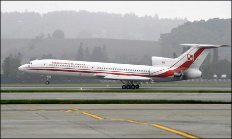 STYRTET: Det var et fly av denne typen som krasjlandet utenfor flyplassen i Smolensk. Foto: Reuters