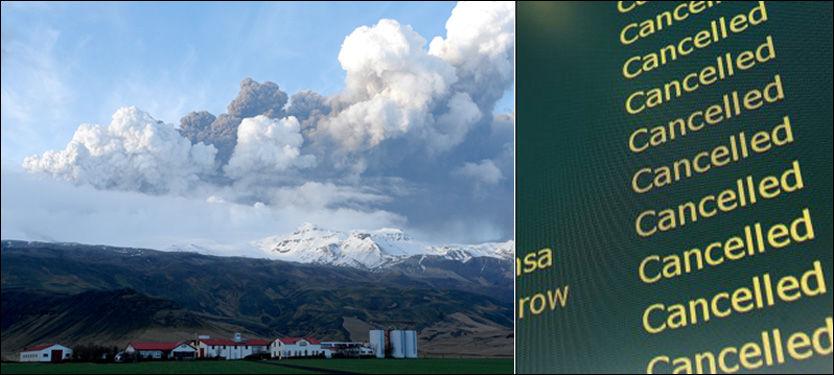 ASKETRØBBEL: Askeskyen som spys ut fra en vulkan på Island sørger for store problemer for flytrafikken. Foto: Ólafur Eggertsson