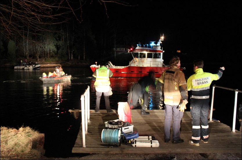 BÅTULYKKE: To personer er bekreftet omkommet og en annen er hardt skadet etter en båtulykke i Oslofjorden. Foto: Ole Christian Nordby/Eikerfoto
