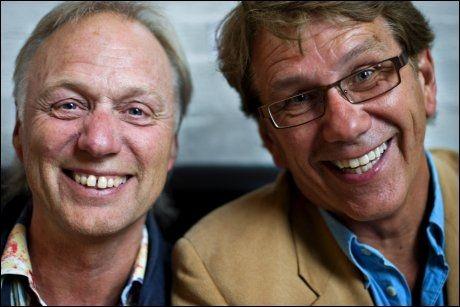 POPULÆR DUO: Øystein Dolmen og Gustav Lorentzen utgjorde Knutsen og Ludvigsen. Sammen ga de ut 11 plater (inkludert samlealbum). Foto: Eivind Griffith Brænde/VG