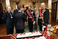 Kong Harald fikk mammuttann av Medvedev