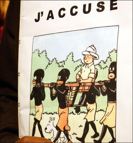 KONTROVERSIELL TEGNESERIE: Bilde fra «Tintin i Kongo». Foto: AP