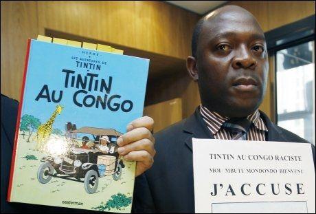 VIL STOPPE TINTIN-HEFTE: Kongolesiske Bienvenu Mbutu Mondongo. Foto: AP