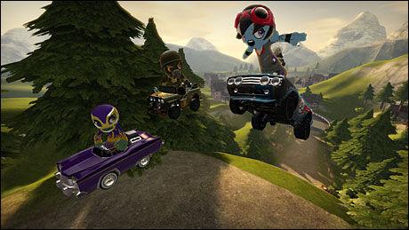 UHØYTIDELIG: Det er uhøytidelig moro-racing som står i fokus i «Modnation Racers». Foto: UNITED FRONT GAMES/SONY