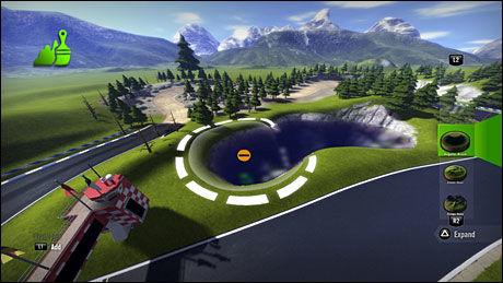 BYGG SELV: Det er svært enkelt å lage dine egne baner i «Modnation Racers». Foto: UNITED FRONT GAMES/SONY