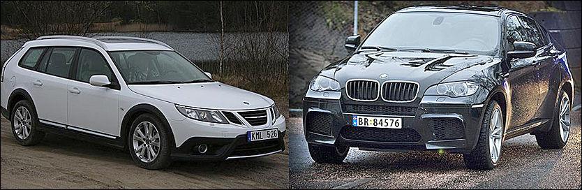 BRA: Saab og BMW-er blant de beste bilene når det kommer til konstruksjoner som motvirker nakkeslengskader under kollisjon. Foto: VG