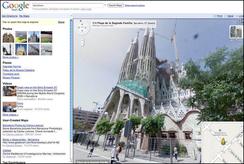 OMSTRIDT: Google Street View gir oversikt og flotte utsikter fra gateplan, men får samtidig kritikk for å bryte med personvernet. Foto: Skjermbilde