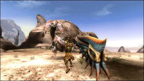 MONSTERSLAKT: Skjermbilde fra Monster Hunter Tri. Foto: CAPCOM