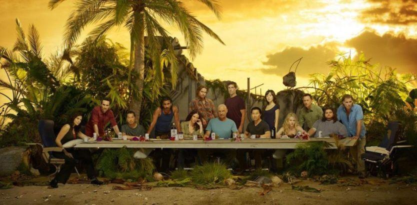 DET SISTE MÅLTIDET: Er det tilfeldig at John Locke sitter på plassen til frelseren og Sayid på plassen til Judas? Foto: Promo ABC